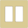Lutron 2-Gang Claro Decorator Screwless Wall Plate-Ivory