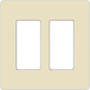 Lutron 2-Gang Claro Decorator Screwless Wall Plate-Light Almond