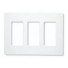Lutron 3-Gang Claro Decorator Screwless Wall Plate-White