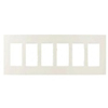 Lutron 6-Gang Claro Decorator Screwless Wall Plate-Light Almond
