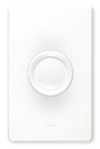 Lutron 600W Rotary Dimmer 3-Way Push On-Off-White