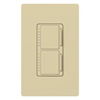 Lutron Maestro Combination Dual 300W Dimmers-Ivory