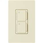 Lutron Maestro Combination 300W Dimmer and 1.0A Fan Controller-Almond
