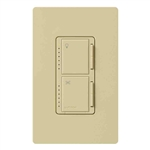 Lutron Maestro Combination 300W Dimmer and 1.0A Fan Controller-Ivory