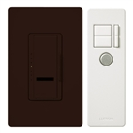 600W Maestro IR Dimmer with Remote Control and Wall Plate Single-Pole-Brown