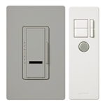 600W Maestro IR Dimmer with Remote Control and Wall Plate Single-Pole-Gray
