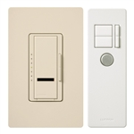 600W Maestro IR Dimmer Remote Control and Wall Plate Single-Pole-Lt Almond