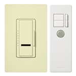 Lutron 600W Maestro IR Dimmer Package Multi-Location-Almond