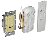 IR Combination 300W Dimmer and 1.0A Fan Controller Package-Ivory