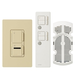 Lutron Maestro IR Combination 300W Dimmer and 1.0A Fan Controller-Ivory