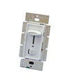 Lutron 600W Skylark Slide Dimmer Single Pole with Locator Light-White