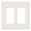 Lutron 2-Gang Satin Colors Screwless Decorator Wall Plate-Matte Biscuit