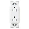 Lutron Satin Colors Duplex Receptacle-Satin White