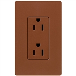 Lutron Satin Colors 20 Amp Duplex Receptacle-Sienna