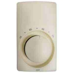 Cadet M612A Thermostat, Double Pole Heat Only Anticipated - Almond