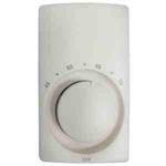 Cadet M612W Thermostat, Double Pole Heat Only Anticipated - White
