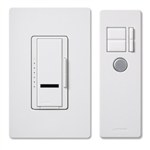 MIR-600THW Lutron Maestro IR Single-pole 600W w/ Wallplate and Transmitter Dimmer Package