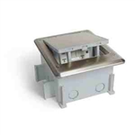 Lew Electric OB-1-SP Floor Box Push Button Outdoor IP66 Rated GFI Power, Pop-Up - Stainless Steel