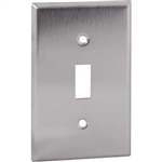 Orbit OS1 Electric Wall Plate, Toggle Switch 1-Gang - Stainless Steel