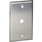 "Orbit OS11 Electric Wall Plate, 0.406"" Round Telephone/Cable 1-Gang - Stainless Steel"