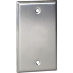 Orbit OS13 Electric Wall Plate, Blank 1-Gang - Stainless Steel