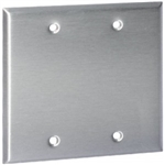 Orbit OS23 Electric Wall Plate, Blank 2-Gang - Stainless Steel