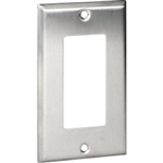 Orbit OS26 Electric Wall Plate, Decora 1-Gang - Stainless Steel