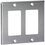 Orbit OS262 Electric Wall Plate, Decora 2-Gang - Stainless Steel