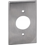 "Orbit OS7 Electric Wall Plate, 1.406"" Round 15A 1-Gang - Stainless Steel"