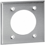 "Orbit OS701 Electric Wall Plate, 2.468"" Round Outlet 2-Gang - Stainless Steel"