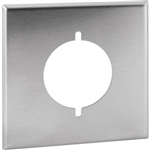 "Orbit OS703 Electric Wall Plate, 2.15"" Round Outlet 2-Gang - Stainless Steel"