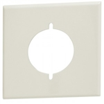"Orbit OS703-P-W Electric Box Cover, 2.156"" Diameter Opening Steel Lexan - 2-Gang - White"