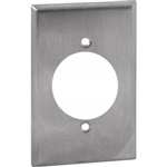 "Orbit OS705 Electric Wall Plate, 1.6"" Round 30A 1-Gang - Stainless Steel"