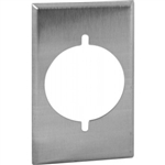 "Orbit OS724 Electric Wall Plate, 2.15"" Round Outlet 1-Gang - Stainless Steel"