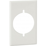 "Orbit OS724-P-W Electric Box Cover, 2.156"" Diameter Opening Steel Lexan - 1-Gang - White"