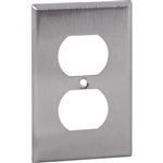 Orbit OS8 Electric Wall Plate, Duplex Receptacle 1-Gang - Stainless Steel
