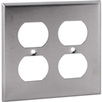 Orbit OS82 Electric Wall Plate, Duplex Receptacle 2-Gang - Stainless Steel