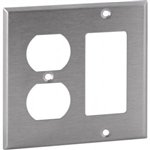 Orbit OS826 Electric Wall Plate, Decora & Duplex 2-Gang - Stainless Steel