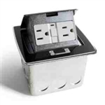 Lew Electric PUFP-CT-BK Countertop Box, Pop Up w/20A GFI Receptacle - Black