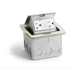 Lew Electric PUFP-CT-OW Countertop Box, Pop Up w/ 2 GFI 20A Power Outlets, Single Gang - White
