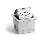 Lew Electric PUFP-CT-OW-2USB Countertop Box, Pop Up w/ 2 USB & 2 Power, Single Gang - Off-White