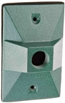 R14-1Vg Weatherproof Cover Rectangular 1 Hole Verde Green
