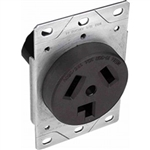 Orbit R30-3 Dryer Receptacle, 125/250V 30A 3-Pole 3-Wire - Black
