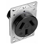 Orbit R50-3 Dryer Receptacle, 125/250V 50A 3-Pole 3-Wire - Black