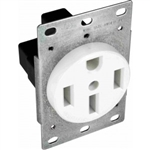 Orbit R50-4-W Dryer Receptacle, 125/250V 50A 3-Pole 4-Wire - White