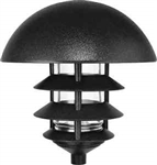 Lld3B-Fs13 Lawn Light Dome 3 Tier 13W Sb Fl Self Ballasted Lamp Black