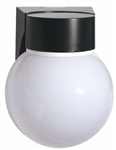 Vbf13Bw-Pc Vaporproof Entry Wall Glass Ball Gl 13W Cfl 120V Plus Pc Wh