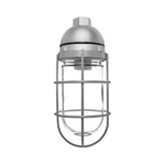 Vc200Dgs-F22 Vaporproof 22W Cfl 120V Ceiling Silver With Gl Globe