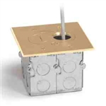 Lew Electric RCFB-1 Floor Box, Recesses Hybrid Single Gang - Brass