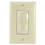 RS Series Passive Infrared (PIR) Universal Wall Switch Vacancy Sensors Ivory